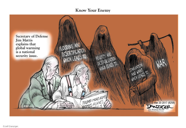 Cartoonist Jeff Danziger  Jeff Danziger's Editorial Cartoons 2017-03-20 bomb