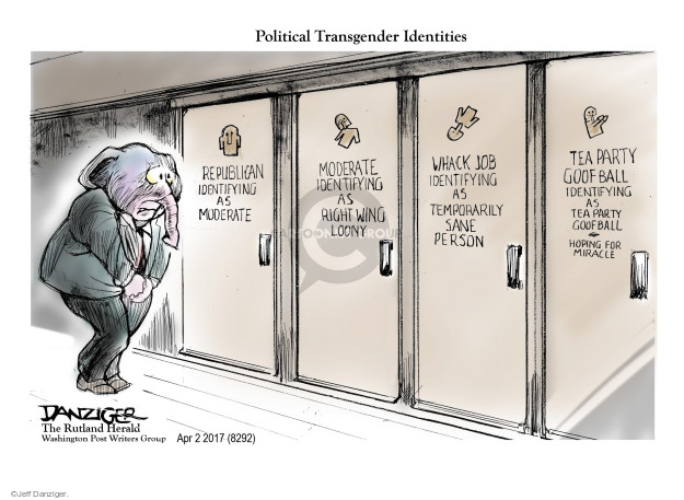 Cartoonist Jeff Danziger  Jeff Danziger's Editorial Cartoons 2017-04-03 gender
