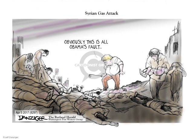 Cartoonist Jeff Danziger  Jeff Danziger's Editorial Cartoons 2017-04-07 gas