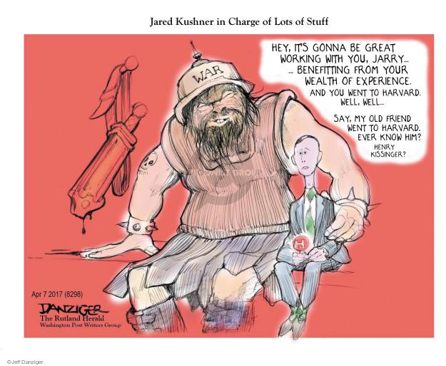 Cartoonist Jeff Danziger  Jeff Danziger's Editorial Cartoons 2017-04-08 charge