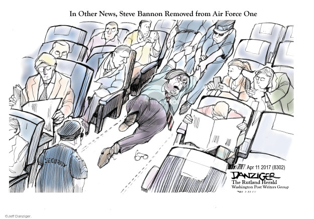 Jeff Danziger  Jeff Danziger's Editorial Cartoons 2017-04-12 Air Force One