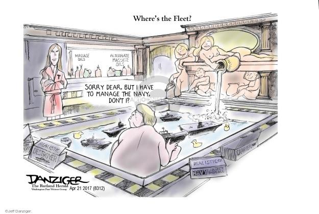 Jeff Danziger  Jeff Danziger's Editorial Cartoons 2017-04-23 Lost