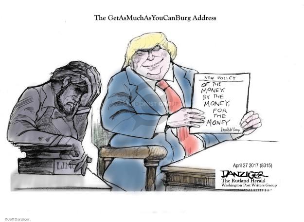 Jeff Danziger  Jeff Danziger's Editorial Cartoons 2017-04-28 interest