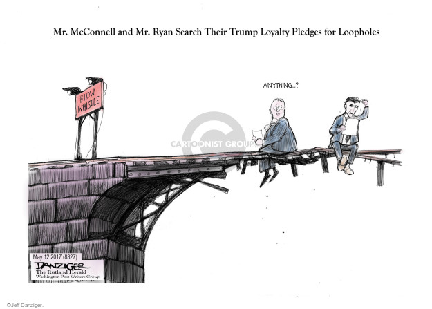 Cartoonist Jeff Danziger  Jeff Danziger's Editorial Cartoons 2017-05-14 Ryan