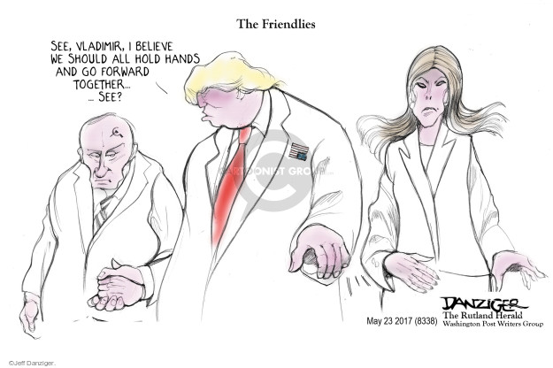 Cartoonist Jeff Danziger  Jeff Danziger's Editorial Cartoons 2017-05-25 American