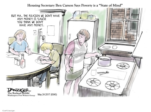 Cartoonist Jeff Danziger  Jeff Danziger's Editorial Cartoons 2017-05-26 finance