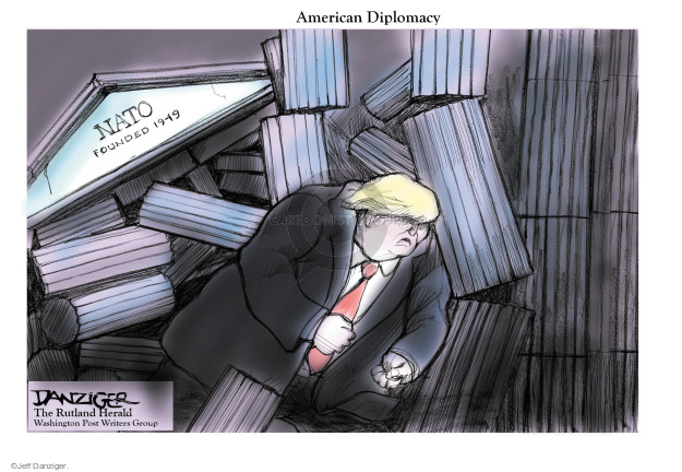 Cartoonist Jeff Danziger  Jeff Danziger's Editorial Cartoons 2017-05-29 American