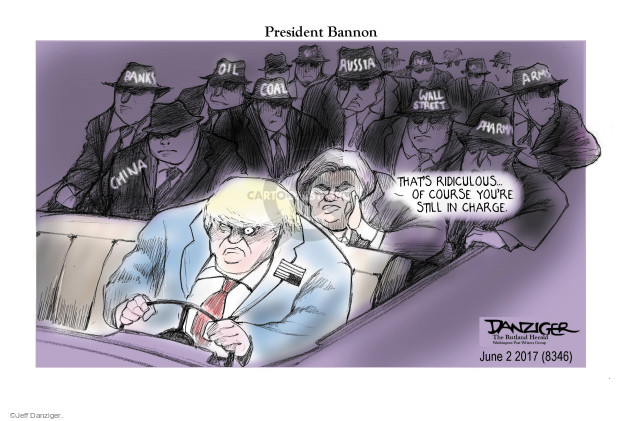 Cartoonist Jeff Danziger  Jeff Danziger's Editorial Cartoons 2017-06-02 chief
