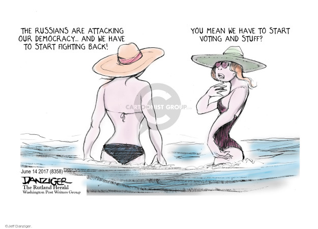Cartoonist Jeff Danziger  Jeff Danziger's Editorial Cartoons 2017-06-16 fight