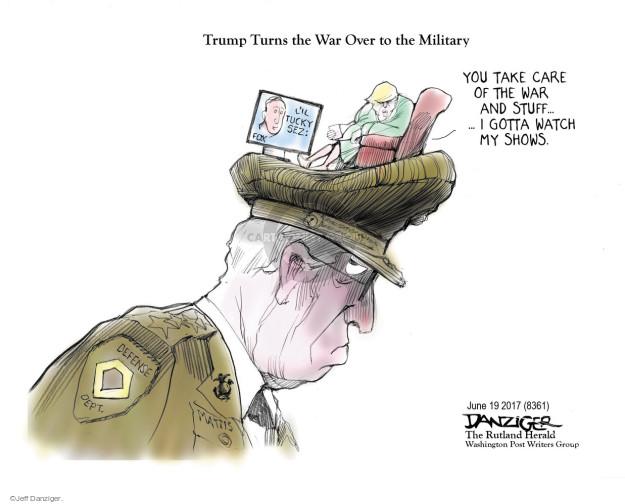 Cartoonist Jeff Danziger  Jeff Danziger's Editorial Cartoons 2017-06-20 show