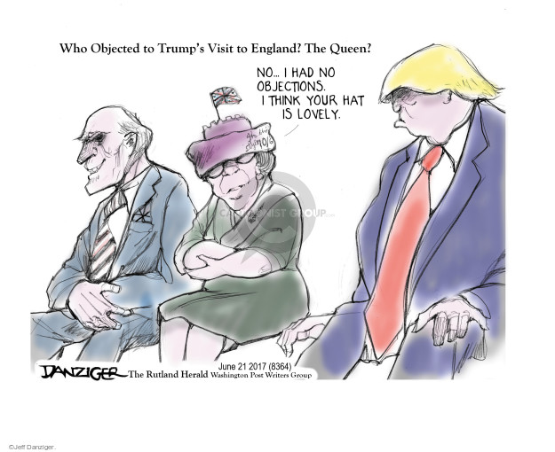 Cartoonist Jeff Danziger  Jeff Danziger's Editorial Cartoons 2017-06-23 American