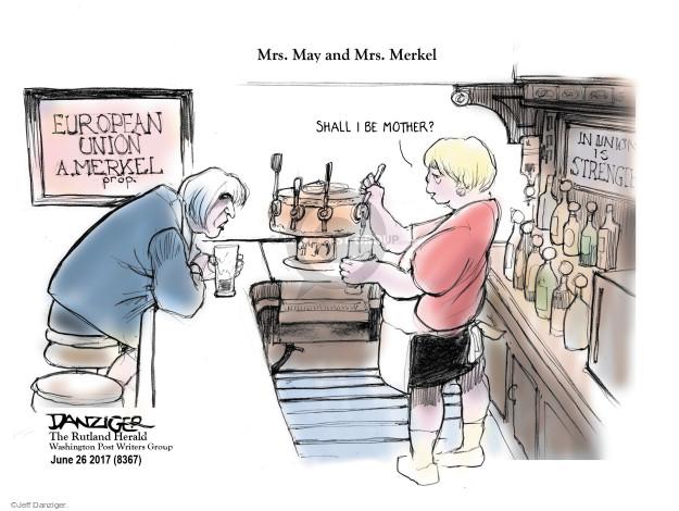 Cartoonist Jeff Danziger  Jeff Danziger's Editorial Cartoons 2017-06-26 Brexit