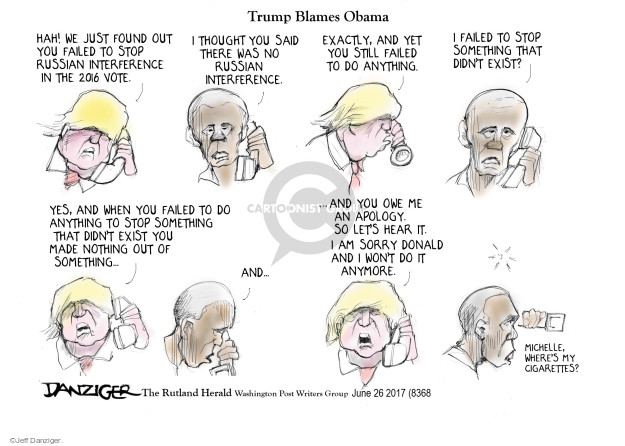 Cartoonist Jeff Danziger  Jeff Danziger's Editorial Cartoons 2017-06-27 international politics