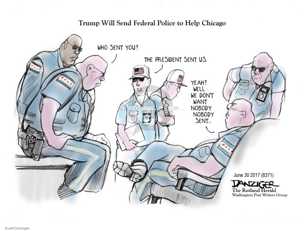 Cartoonist Jeff Danziger  Jeff Danziger's Editorial Cartoons 2017-07-02 police