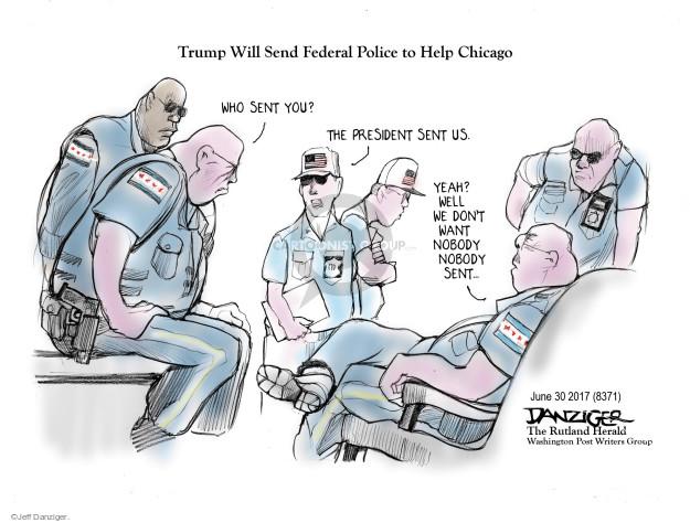 Jeff Danziger  Jeff Danziger's Editorial Cartoons 2017-07-02 murder