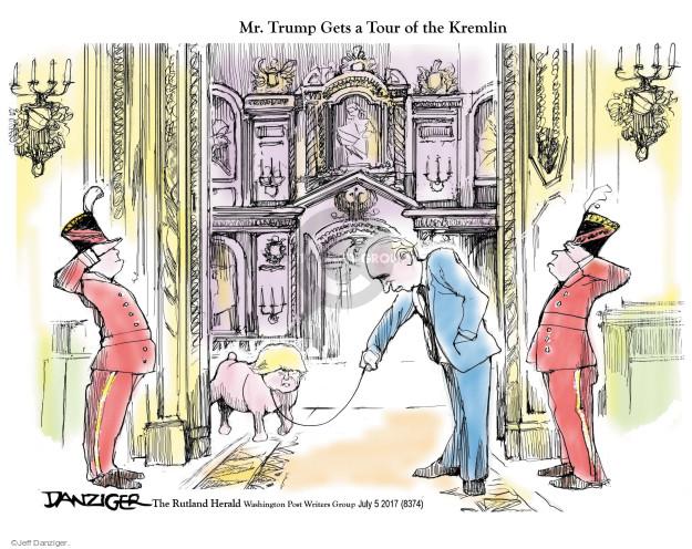 Mr. Trump Gets a tour of the Kremlin.