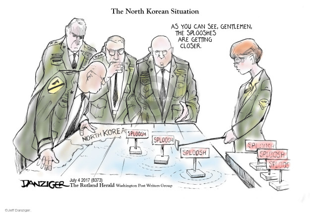 Cartoonist Jeff Danziger  Jeff Danziger's Editorial Cartoons 2017-07-05 nuclear
