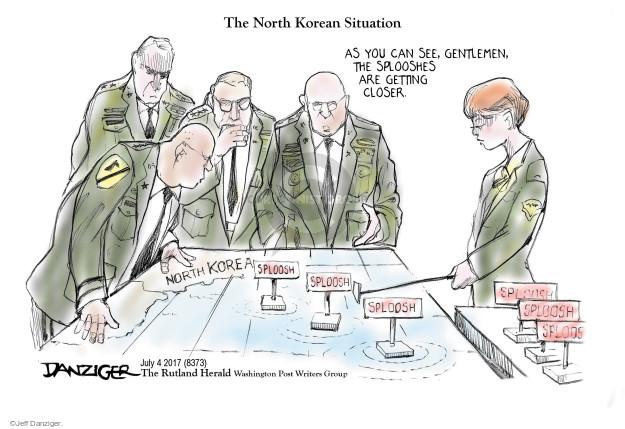 Cartoonist Jeff Danziger  Jeff Danziger's Editorial Cartoons 2017-07-05 bomb