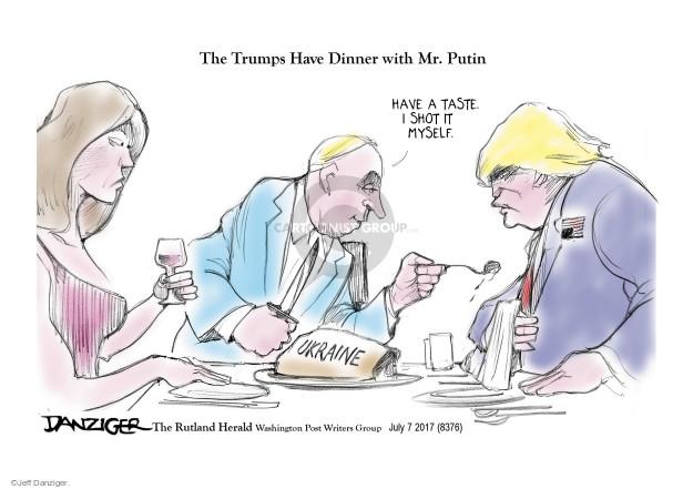 Cartoonist Jeff Danziger  Jeff Danziger's Editorial Cartoons 2017-07-08 negotiation