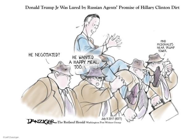 Cartoonist Jeff Danziger  Jeff Danziger's Editorial Cartoons 2017-07-09 food