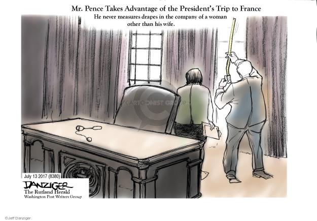 Cartoonist Jeff Danziger  Jeff Danziger's Editorial Cartoons 2017-07-13 trip