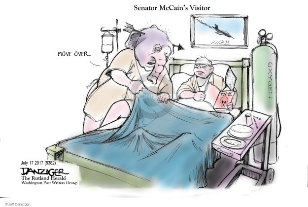 Cartoonist Jeff Danziger  Jeff Danziger's Editorial Cartoons 2017-07-17 health care repeal