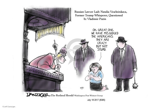 Cartoonist Jeff Danziger  Jeff Danziger's Editorial Cartoons 2017-07-20 international politics
