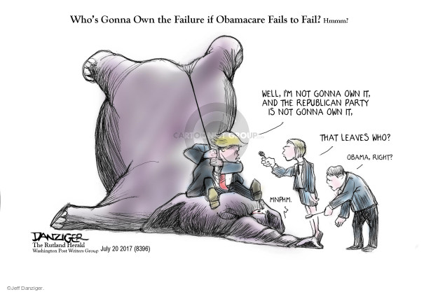 Cartoonist Jeff Danziger  Jeff Danziger's Editorial Cartoons 2017-07-21 insurance policy