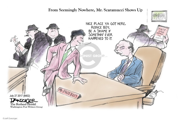 Cartoonist Jeff Danziger  Jeff Danziger's Editorial Cartoons 2017-07-29 press secretary