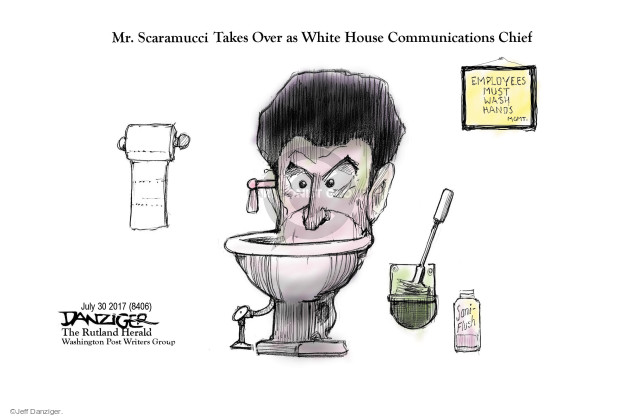 Cartoonist Jeff Danziger  Jeff Danziger's Editorial Cartoons 2017-07-31 press secretary