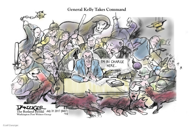 Cartoonist Jeff Danziger  Jeff Danziger's Editorial Cartoons 2017-08-02 chief