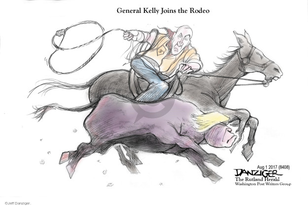 Cartoonist Jeff Danziger  Jeff Danziger's Editorial Cartoons 2017-08-03 chief