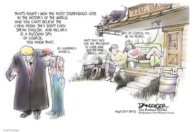 Jeff Danziger  Jeff Danziger's Editorial Cartoons 2017-08-06 message
