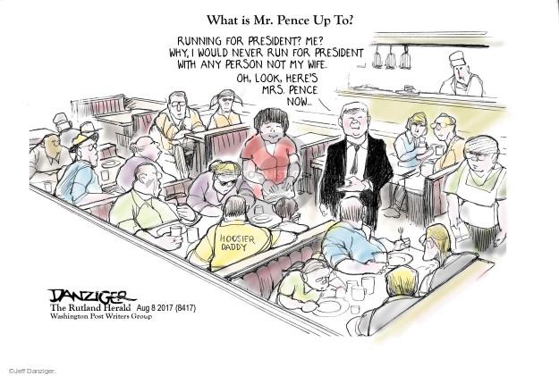 Cartoonist Jeff Danziger  Jeff Danziger's Editorial Cartoons 2017-08-09 campaign