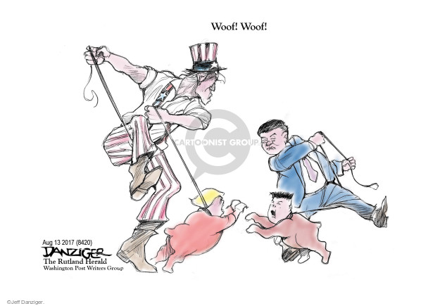 Cartoonist Jeff Danziger  Jeff Danziger's Editorial Cartoons 2017-08-14 American