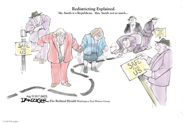 Jeff Danziger  Jeff Danziger's Editorial Cartoons 2017-08-16 voting rights