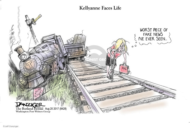 Cartoonist Jeff Danziger  Jeff Danziger's Editorial Cartoons 2017-08-21 fact