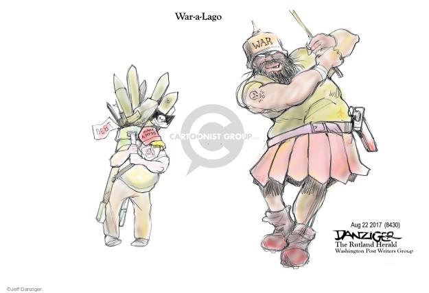 Cartoonist Jeff Danziger  Jeff Danziger's Editorial Cartoons 2017-08-23 Mar-a-Lago