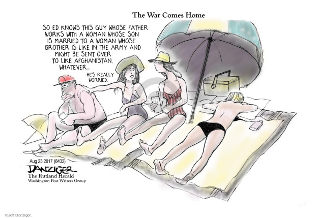 Cartoonist Jeff Danziger  Jeff Danziger's Editorial Cartoons 2017-08-25 women in military
