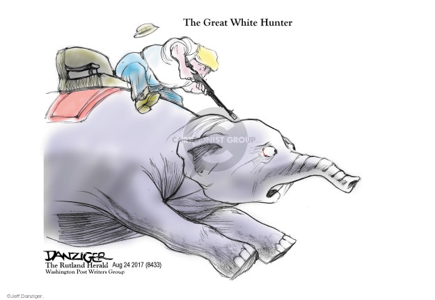 Cartoonist Jeff Danziger  Jeff Danziger's Editorial Cartoons 2017-08-26 conservatism