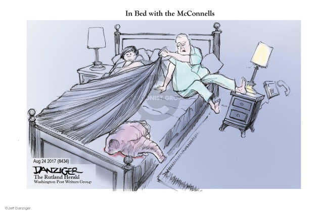 Jeff Danziger  Jeff Danziger's Editorial Cartoons 2017-08-27 Mitch McConnell