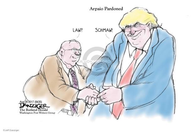 Jeff Danziger  Jeff Danziger's Editorial Cartoons 2017-08-28 law enforcement