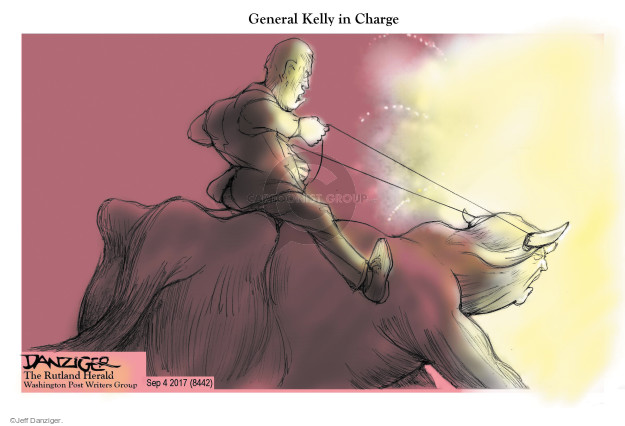 Cartoonist Jeff Danziger  Jeff Danziger's Editorial Cartoons 2017-09-05 chief