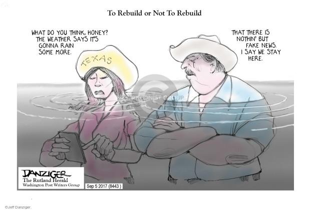 Cartoonist Jeff Danziger  Jeff Danziger's Editorial Cartoons 2017-09-06 storm