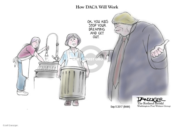 Cartoonist Jeff Danziger  Jeff Danziger's Editorial Cartoons 2017-09-07 reform
