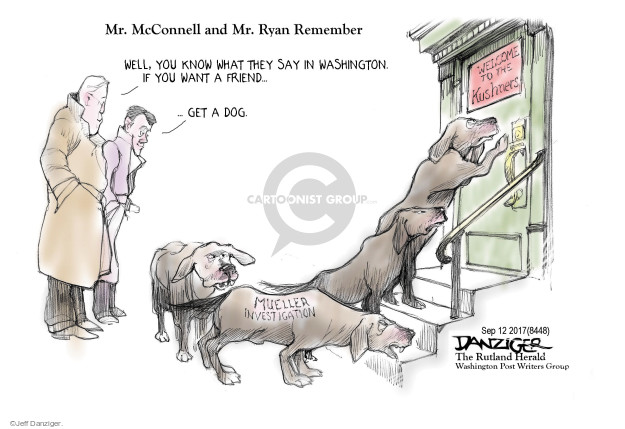 Jeff Danziger  Jeff Danziger's Editorial Cartoons 2017-09-13 Mitch McConnell