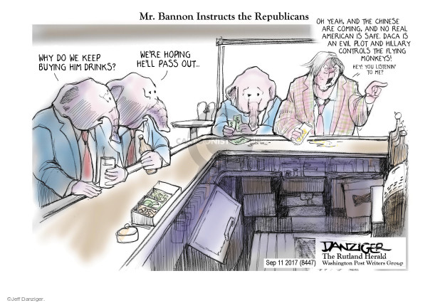 Cartoonist Jeff Danziger  Jeff Danziger's Editorial Cartoons 2017-09-14 American