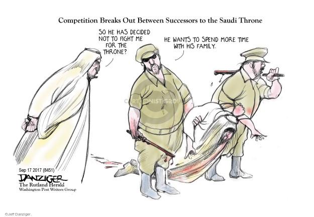 Cartoonist Jeff Danziger  Jeff Danziger's Editorial Cartoons 2017-09-18 decision
