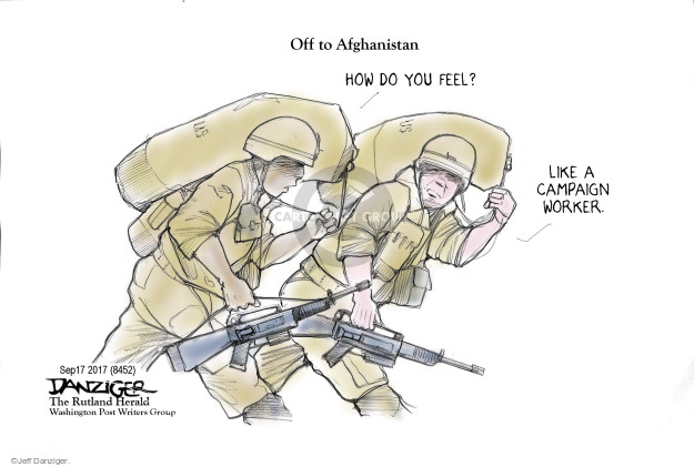 Cartoonist Jeff Danziger  Jeff Danziger's Editorial Cartoons 2017-09-19 international politics