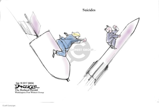 Cartoonist Jeff Danziger  Jeff Danziger's Editorial Cartoons 2017-09-21 international relations